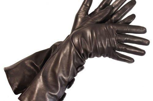 guanti lunghi di nappa nera