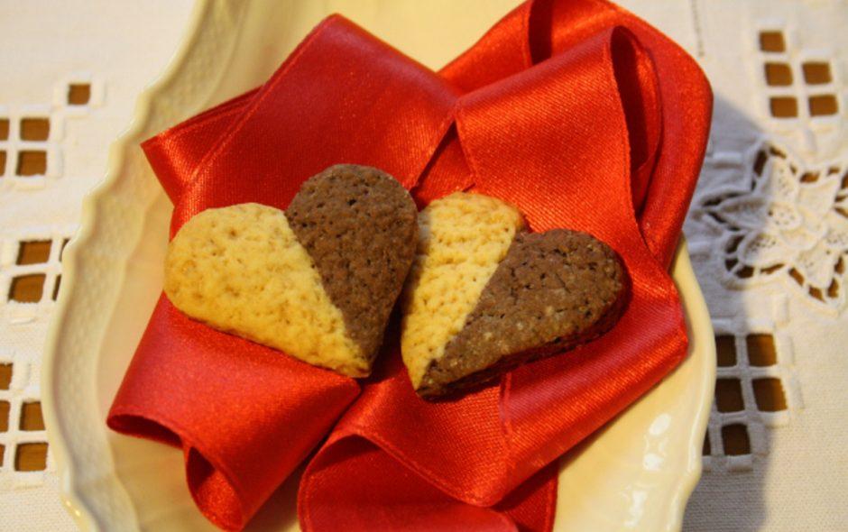 Cuoricini bicolori per San Valentino
