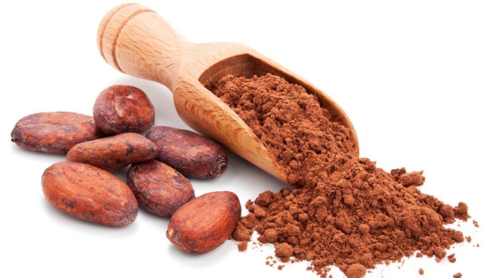 cacao in polvere e fave