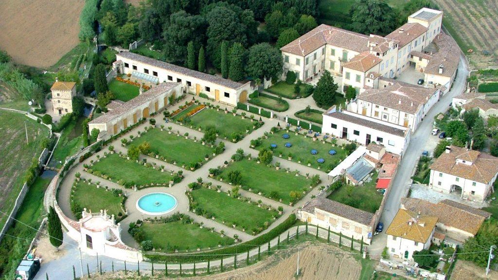 visione aerea di villa veneta Giro d'Italia