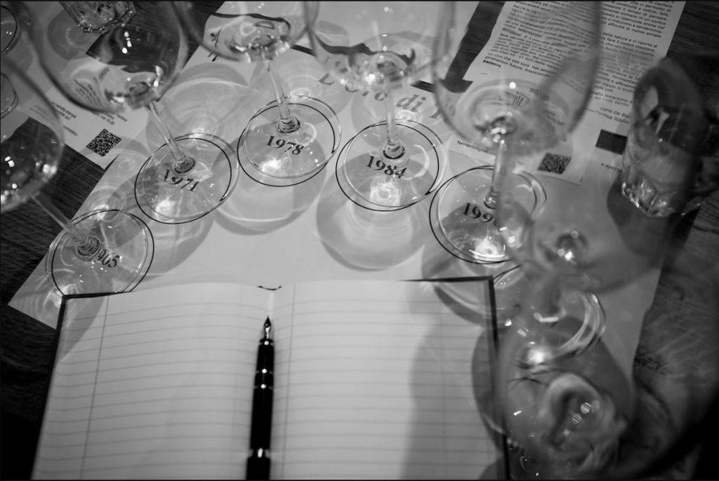 bicchieri per degustazione vino santo