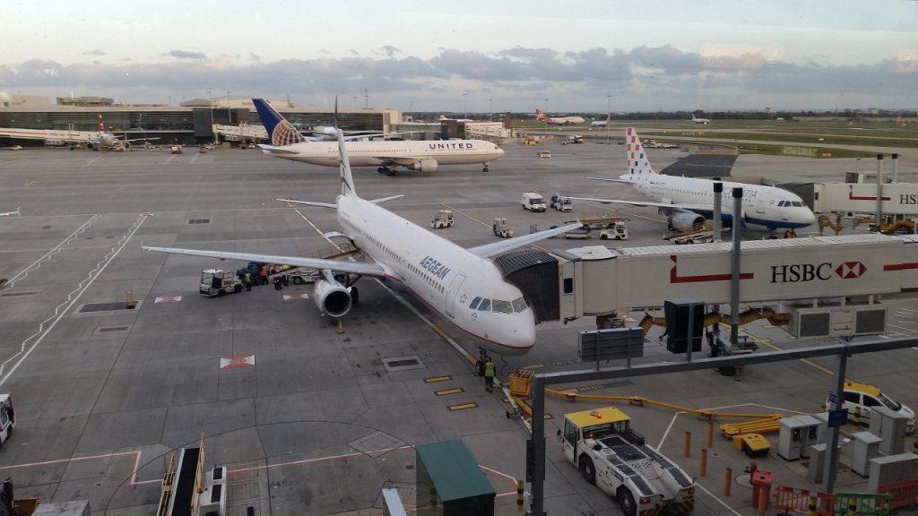 Heathrow traffico aereo