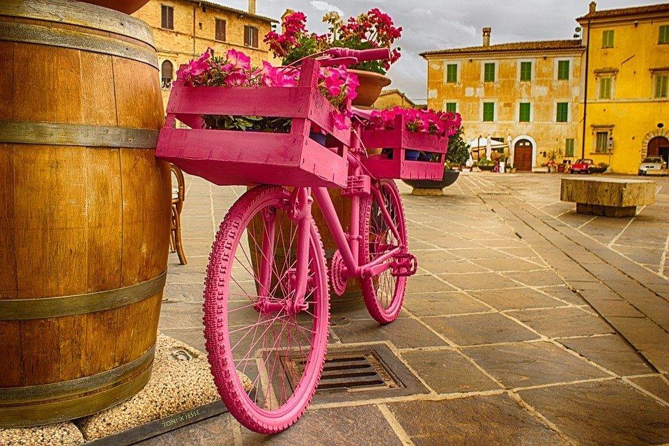 bici rosa Giro d'Italia
