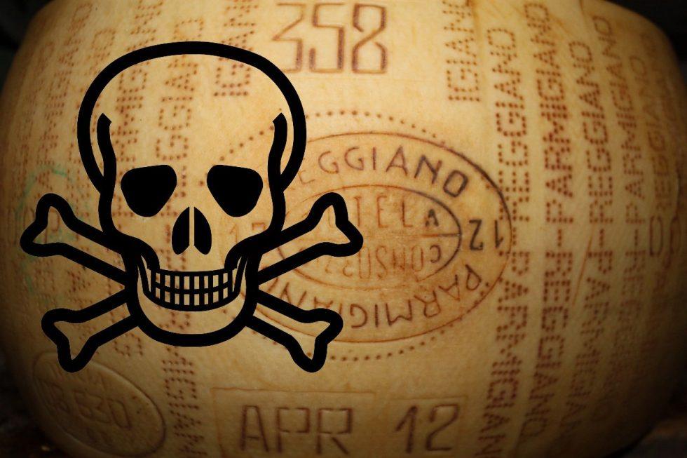 Prosciutto e Parmigiano pericolosi! Follia!