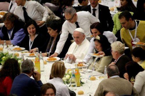 pranzo etico Papa