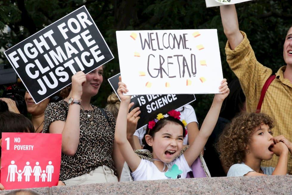Greta Thunberg sbarca NewYork