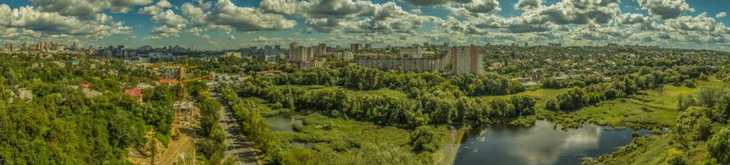 città circolare verde