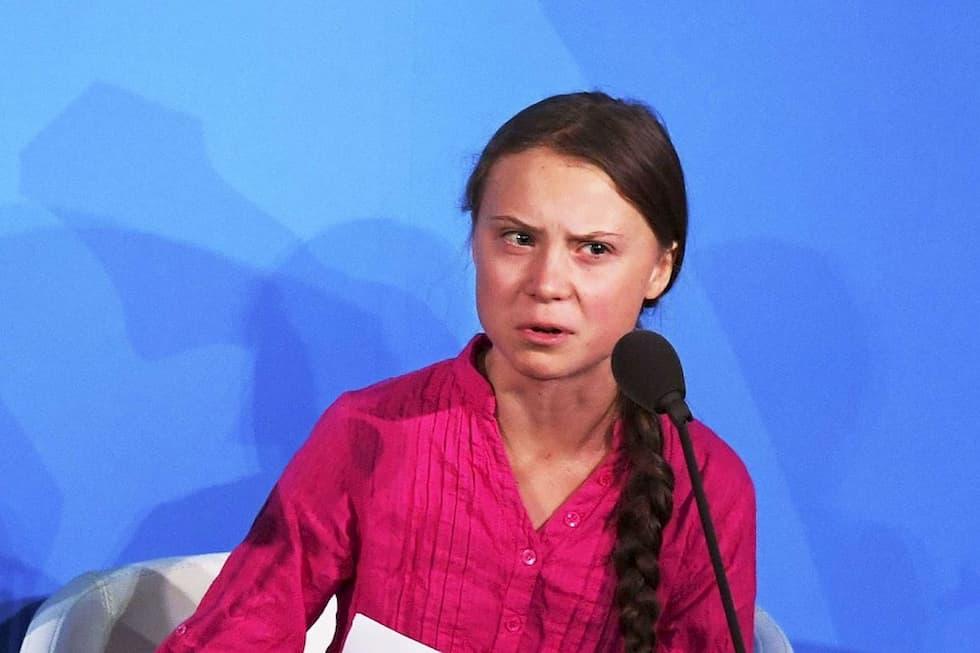 in piazza con Greta Thunberg