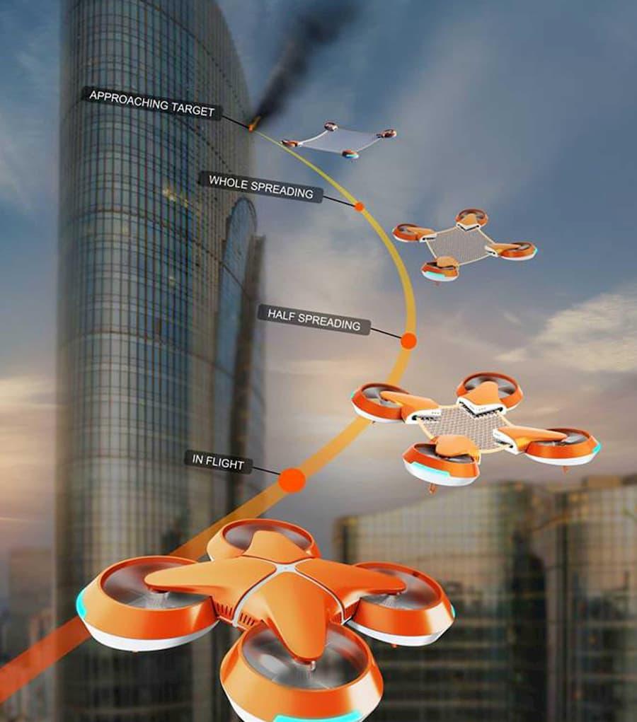 un drone per salvare le persone dagli incendi