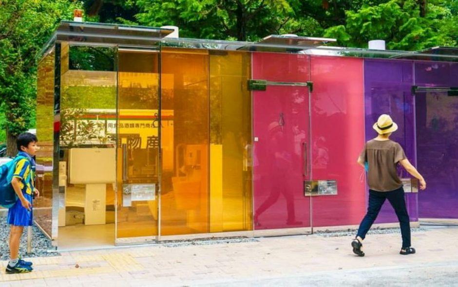 Toilette completamente trasparenti a Tokyo