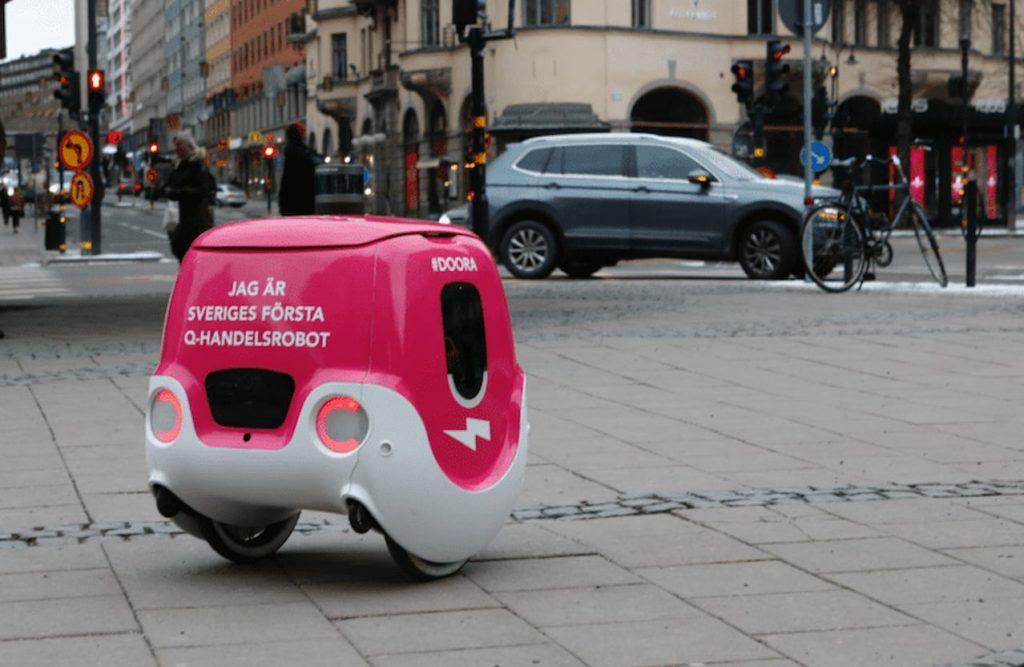 droni robot per la consegna a domicilio