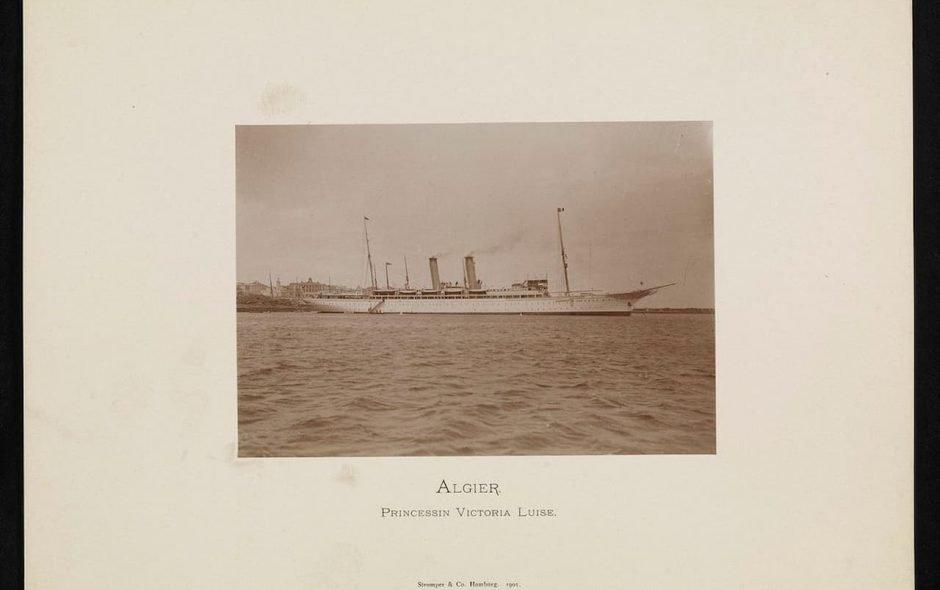 La prima nave da crociera fu varata nel 1900