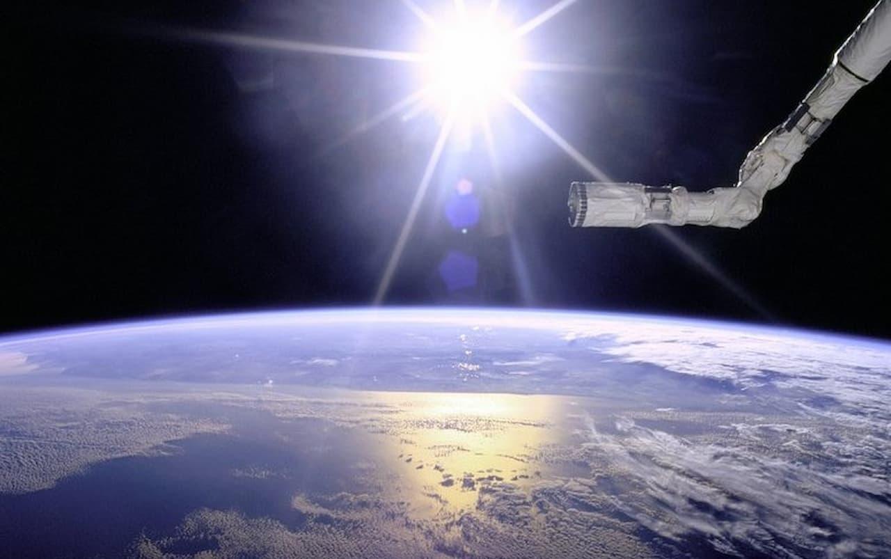 Pubblicità direttamente dallo spazio.